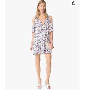 Amanda Uprichard Printed Ora cold shoulder dress